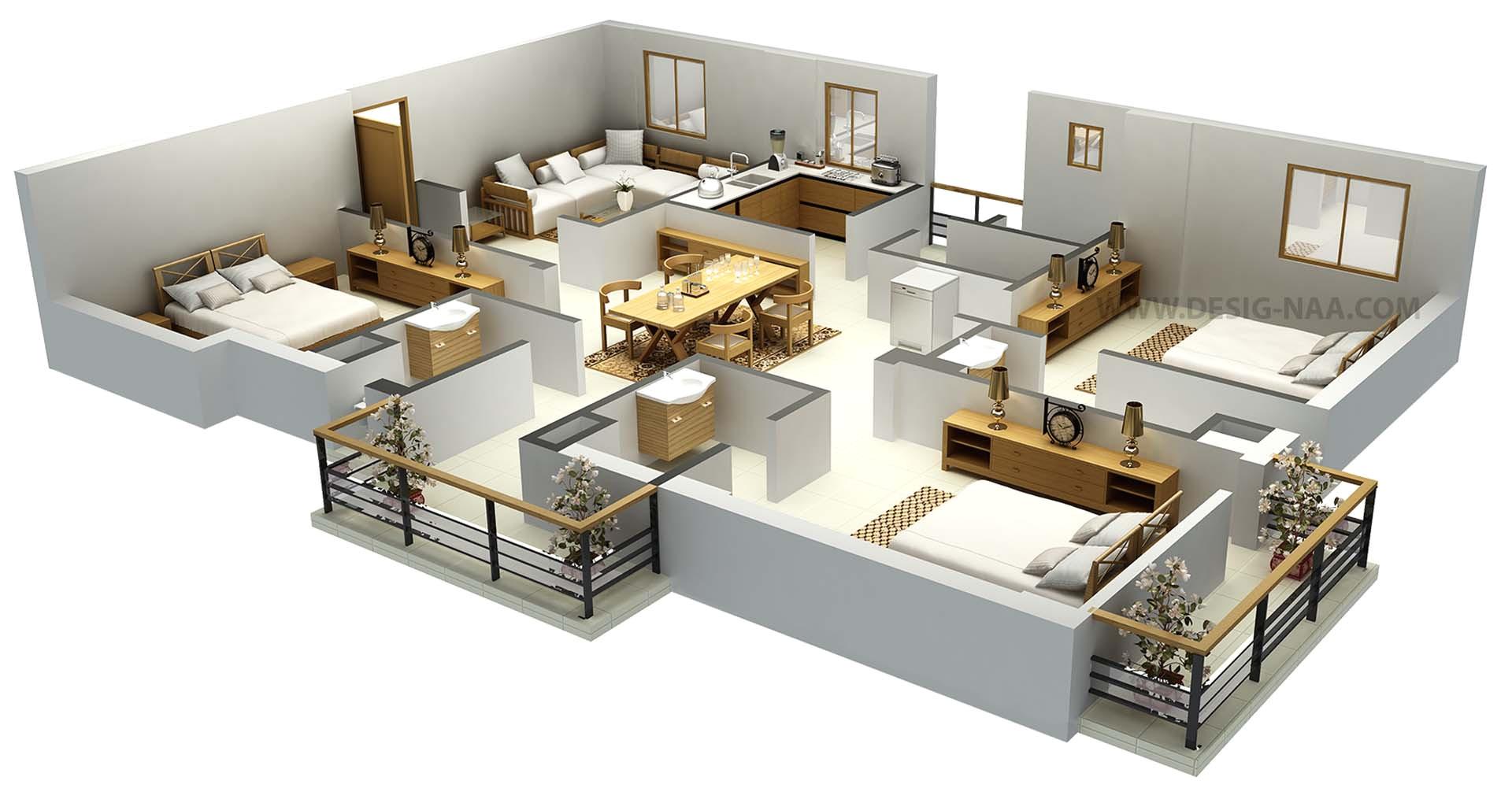 3d Home Plan Design Impressive Floor Plans In 3d Home Design