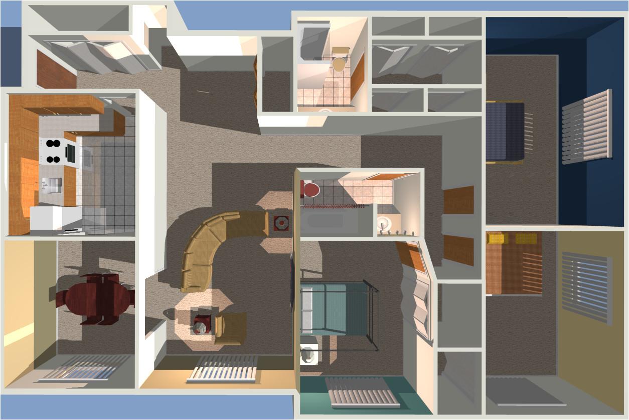 1000 sq ft house plans 3 bedroom 3d
