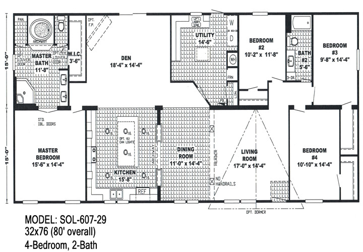 floor planning for double wide trailers
