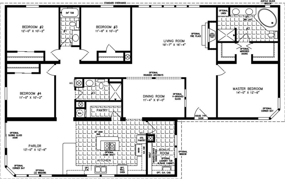 four bedroom mobile homes l 4 bedroom floor plans inside 4 bedroom double wide mobile home floor plans