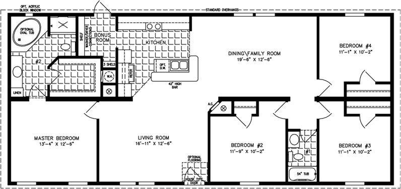 4 bedroom mobile home floor plans lovely four bedroom mobile homes l 4 bedroom floor plans