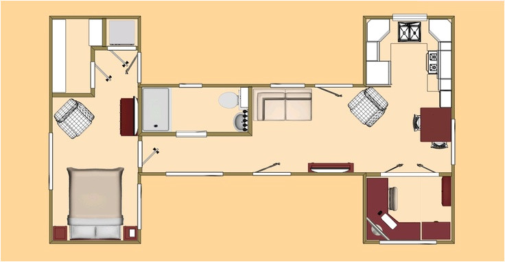 40 foot shipping container home floor plans