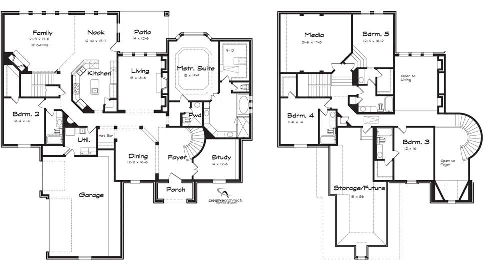 5 bedroom log home floor plans