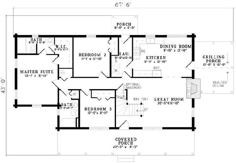 242 plan 110 00908 5 bedroom 3 bath