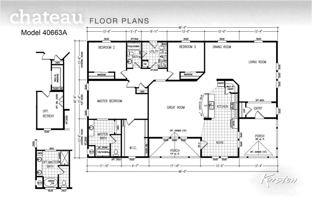 manufactured homes 5 bedroom floor plans