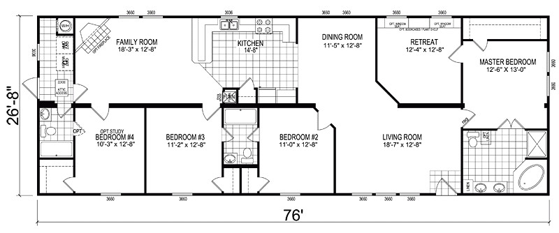 mobile homes double wide floor plan