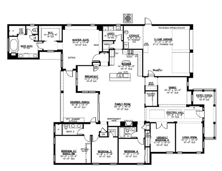 simple 5 bedroom house plans