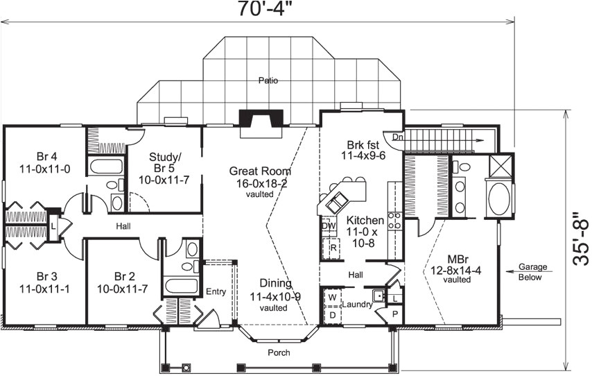 ranch style house plans 5 bedroom