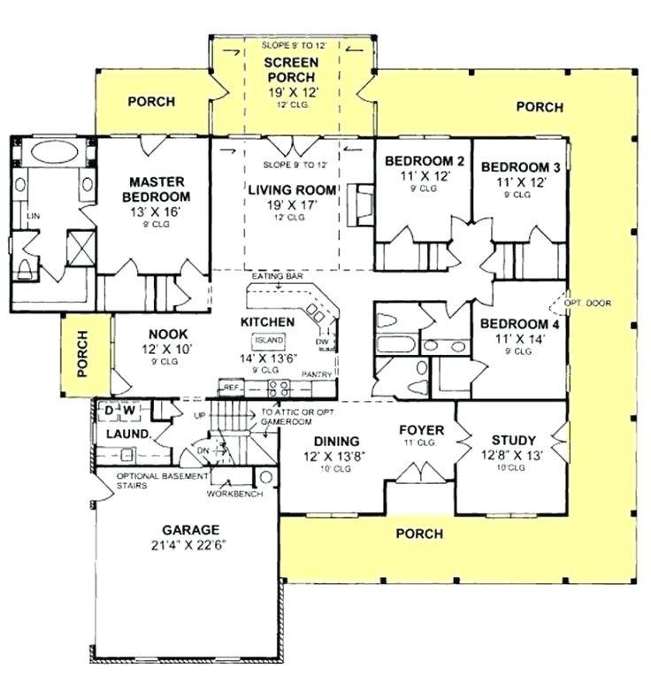 4 bedroom bathroom house plans inspirational 7 single story australia