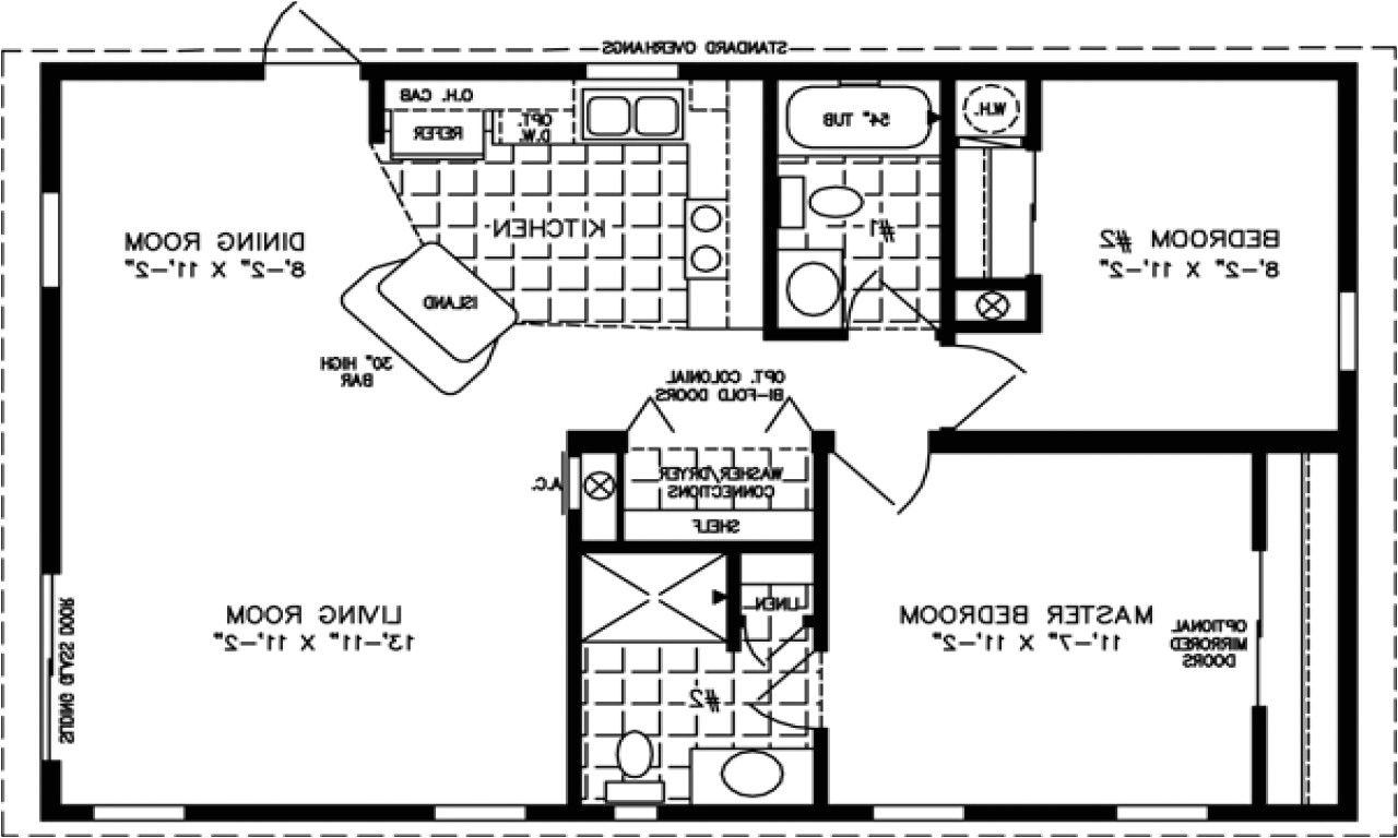 800 sq ft apartment floor plan