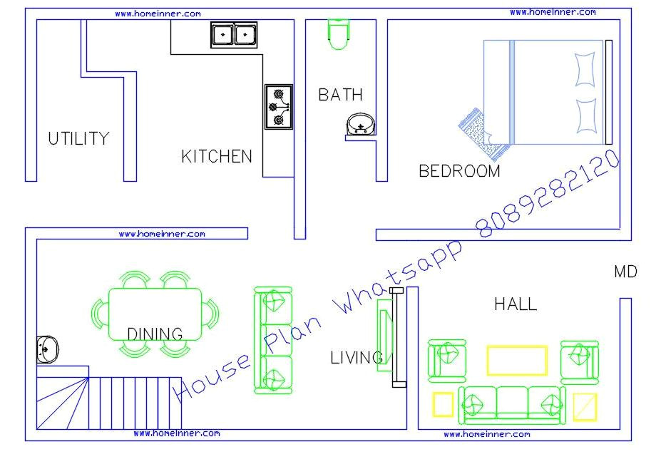 800 sq ft low cost house plans with