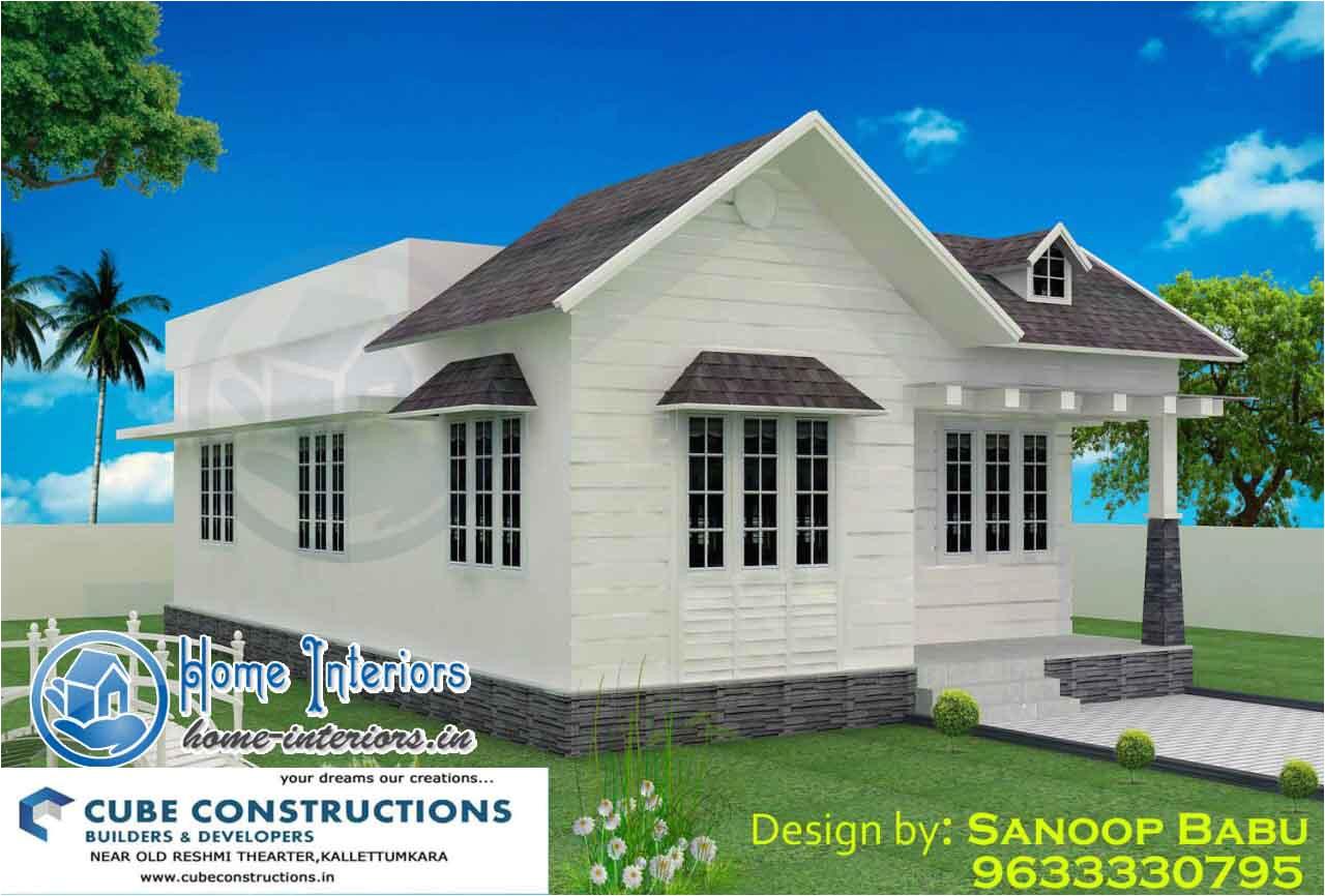 800 sqft stylish kerala home design 11 lakh