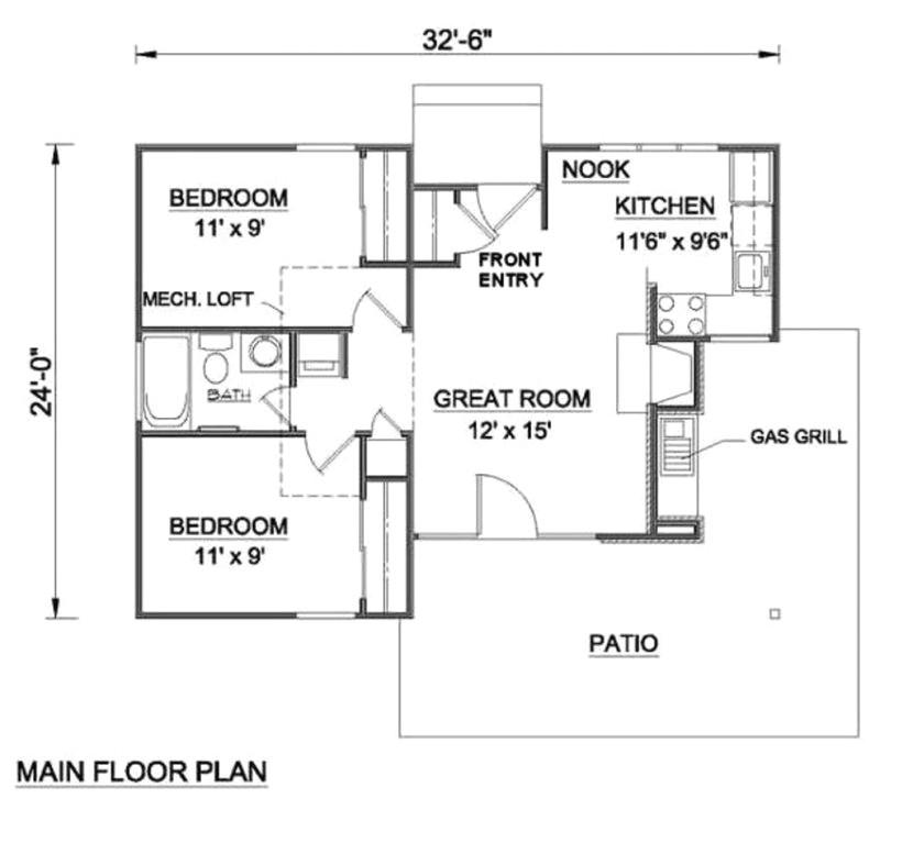 kerala style 800 sqft 2 bedroom house plans