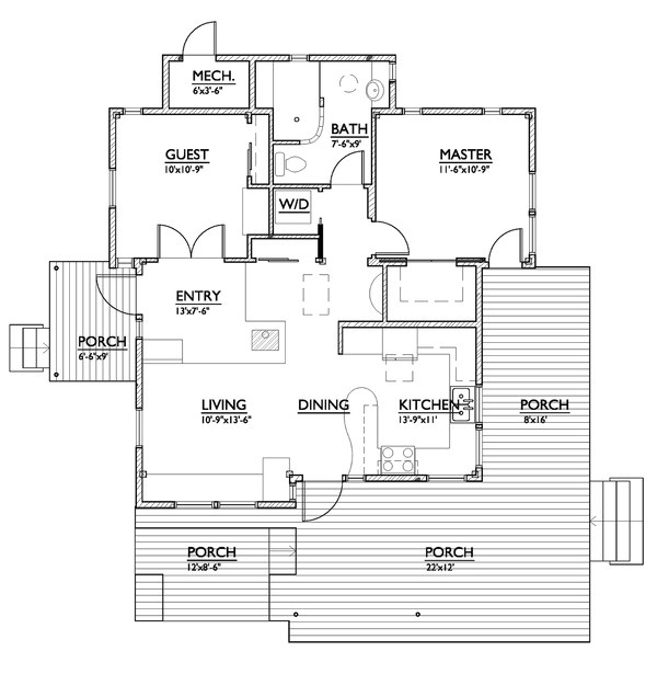 800 square feet 2 bedroom 1 bathroom 0 garage modern 37865