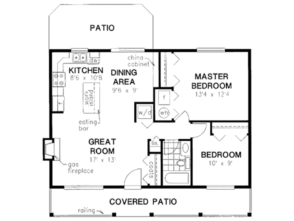 900 square feet 2 bedrooms 1 bathroom country house plans 0 garage 23942