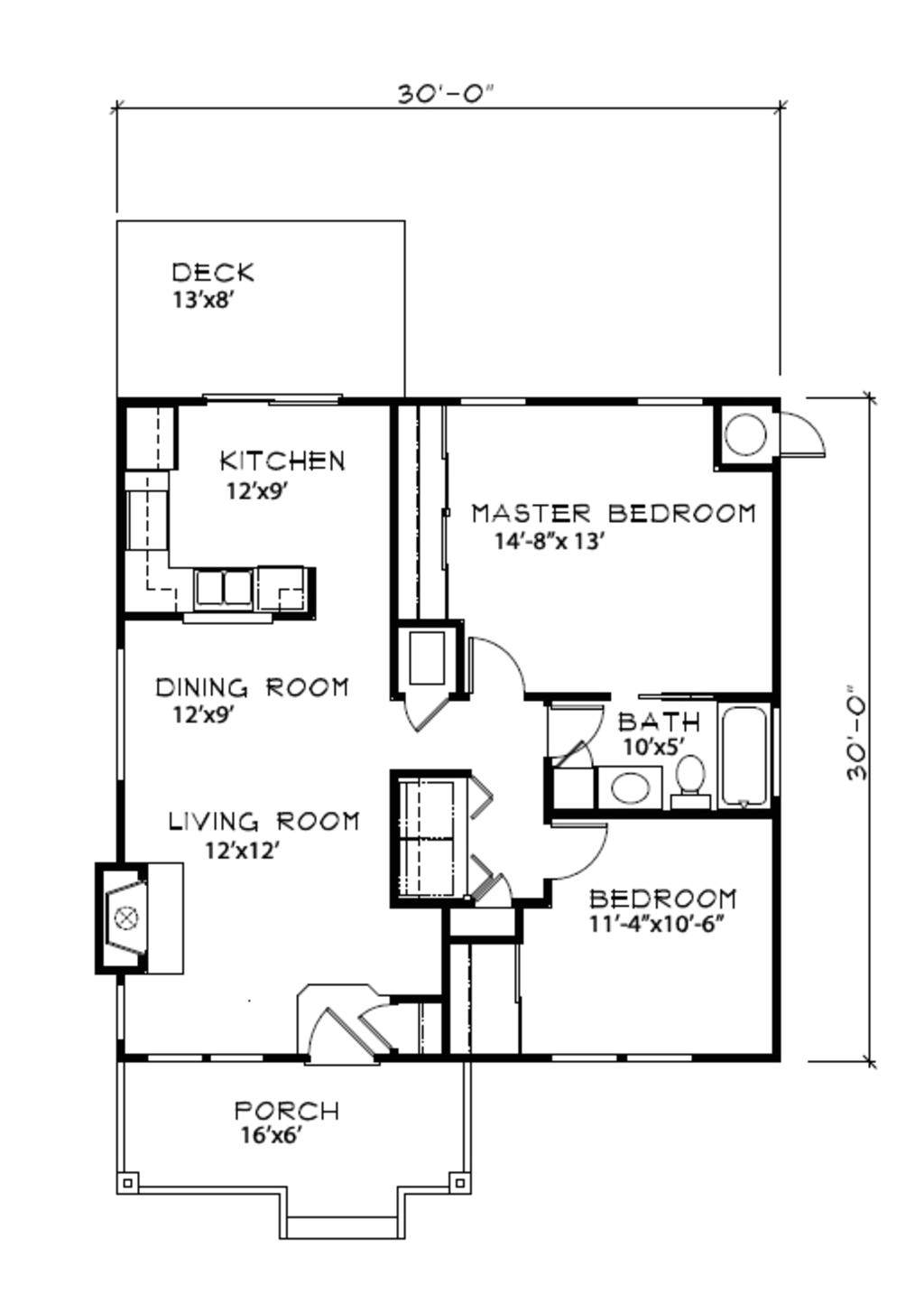900 square feet 2 bedrooms 1 bathroom farm house plans 0 garage 36977