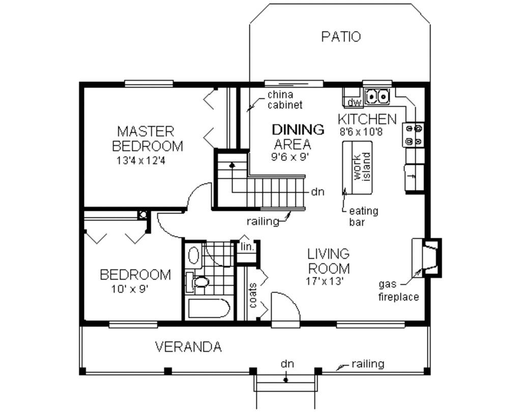 900 square feet 2 bedrooms 1 bathroom farm house plans 0 garage 986