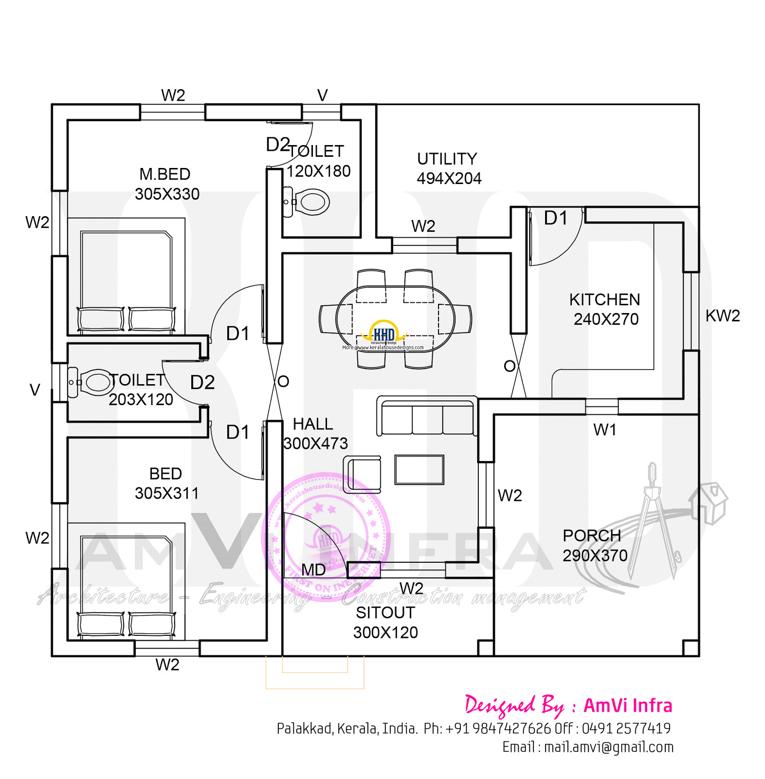 900 sqft floor plan