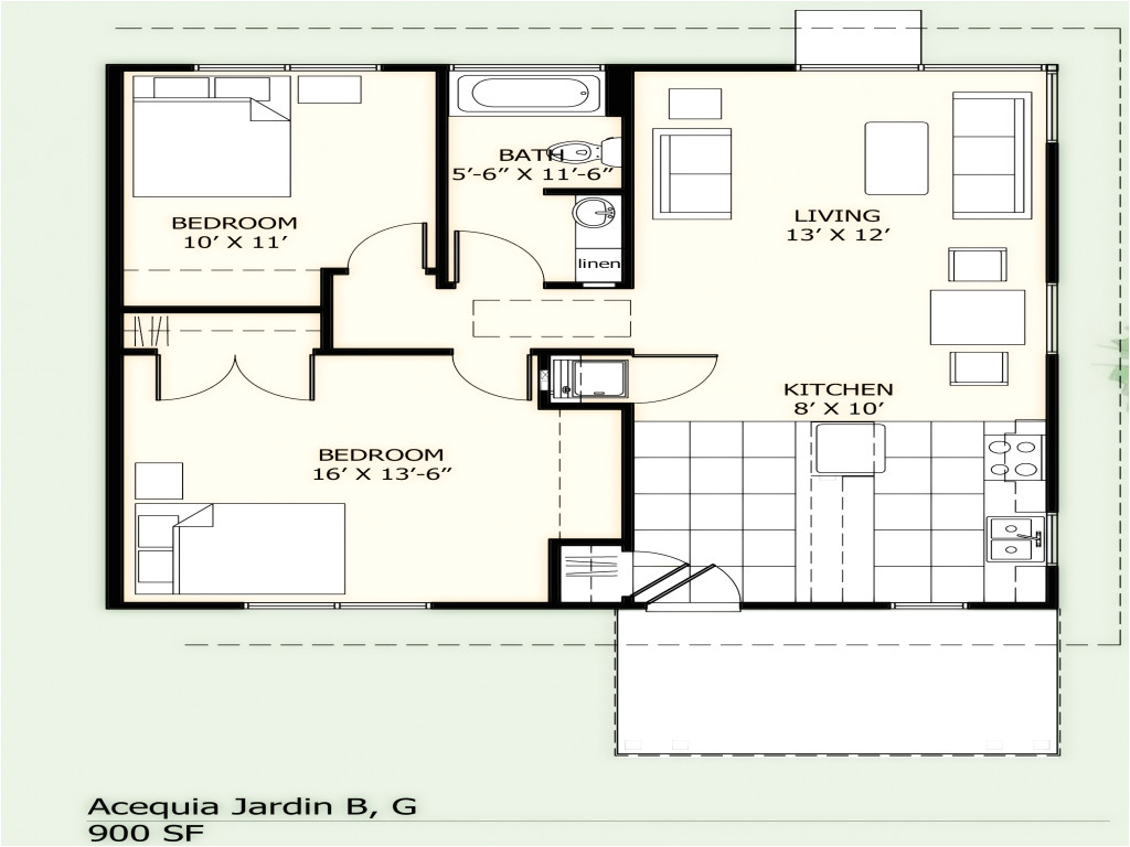 c221510a27254122 900 square feet apartment 900 square foot house plans