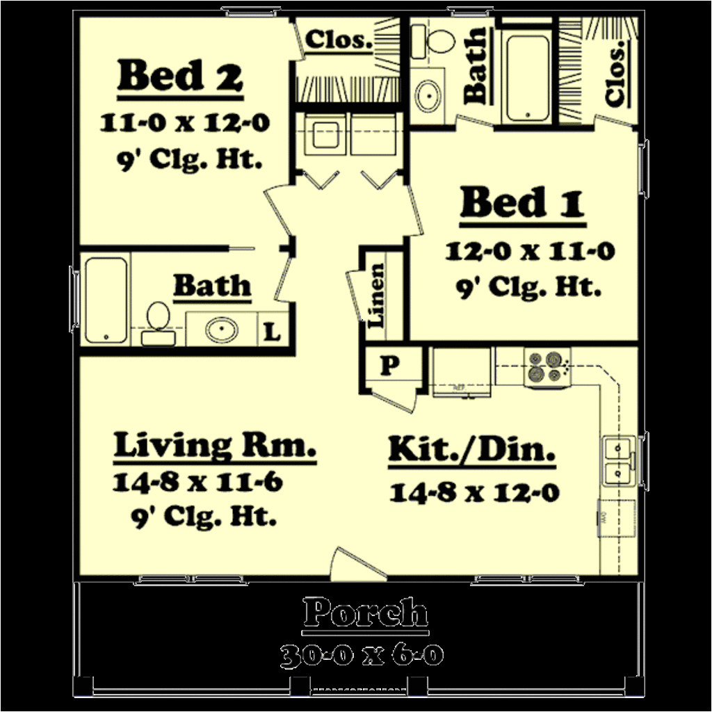900 square feet 2 bedrooms 2 bathroom country house plans 0 garage 32437