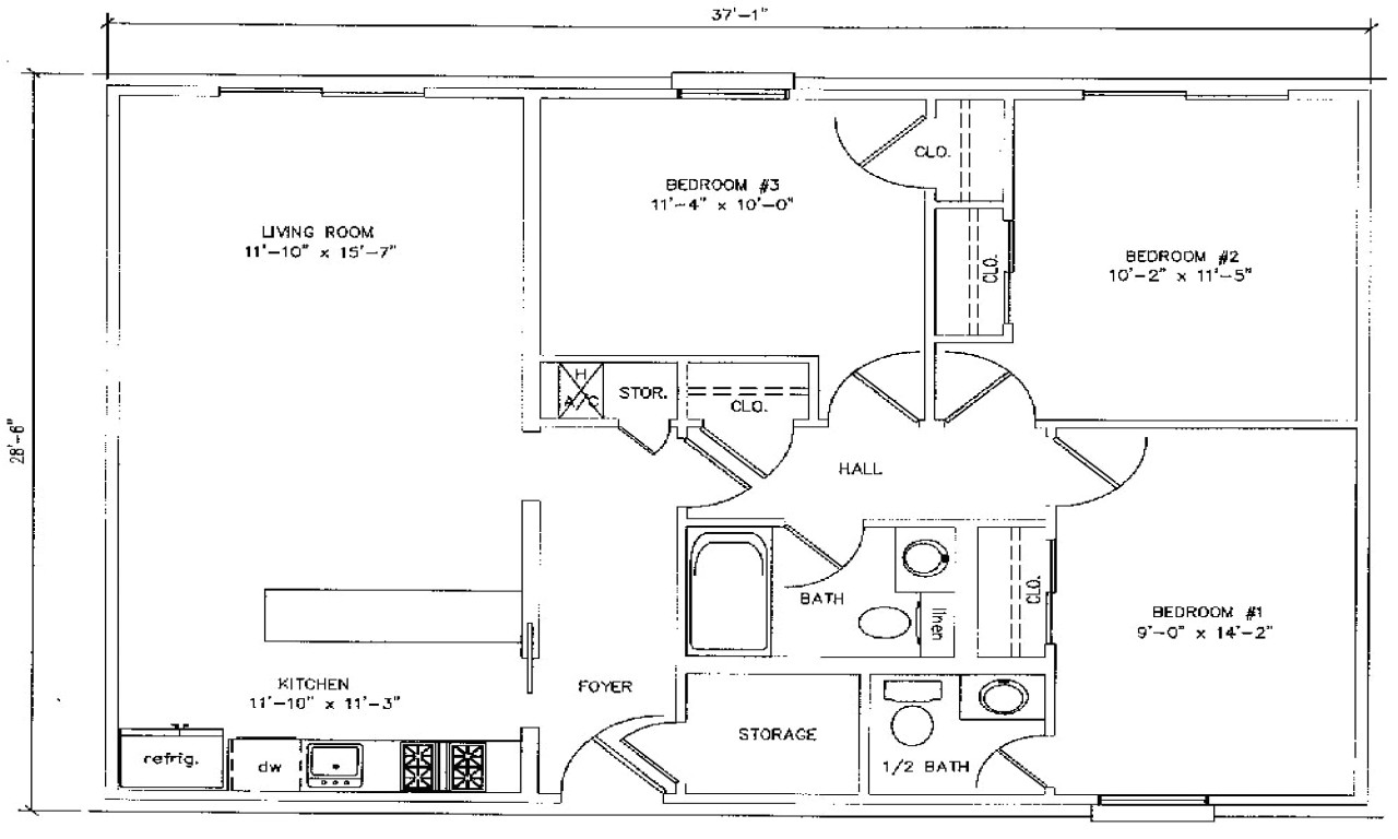 900 Sq Ft House Plans 3 Bedroom 1000 Square Foot House Plans 3 Bedroom 900 Square Foot