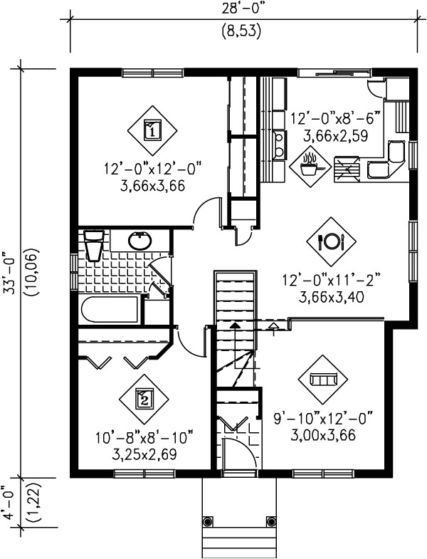 900 square feet 2 bedrooms 1 bathroom contemporary house plans 0 garage 2102
