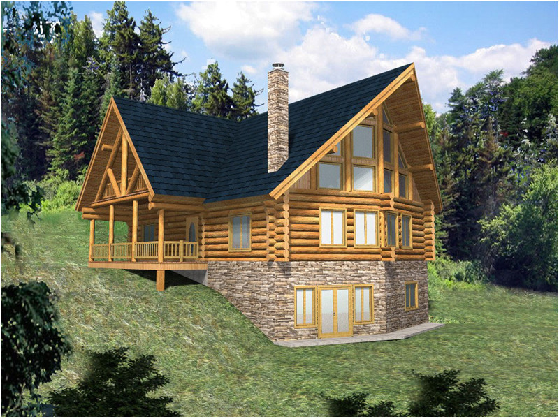 a frame house plans with walkout basement