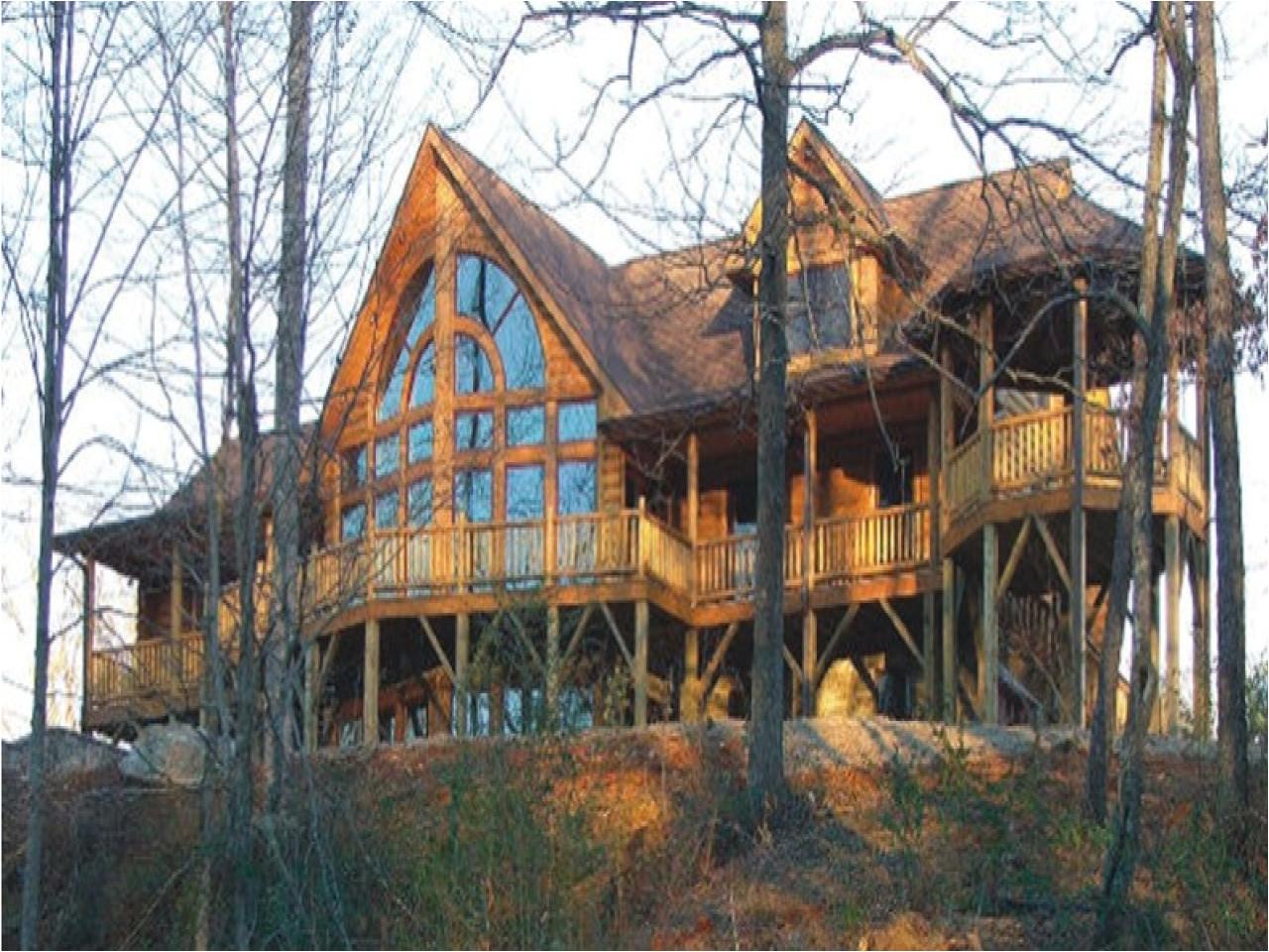 a frame log home plans