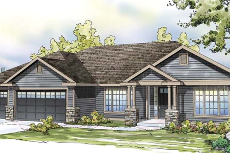 house plans stone accents