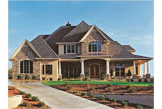 stone house plans with porch