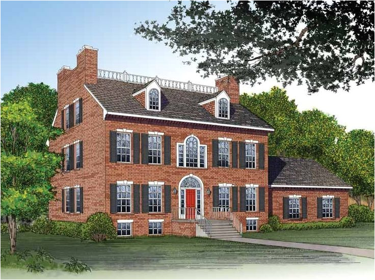 Adam Federal House Plans Adam Federal House Plan with 3811 Square Feet and 4