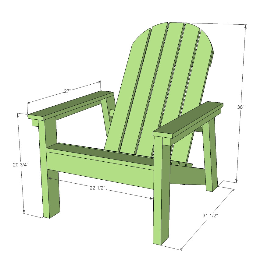 Adirondack Chair Plans Home Depot Ana White 2×4 Adirondack Chair Plans for Home Depot Dih