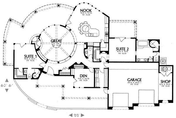 2575 square feet 2 bedrooms 2 5 bathroom santa fe house plans 2 garage 12026