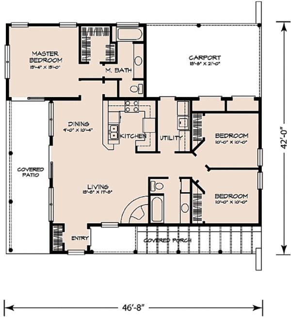1263 square feet 3 bedrooms 2 bathroom southwest contemporary plans 1 garage 32298