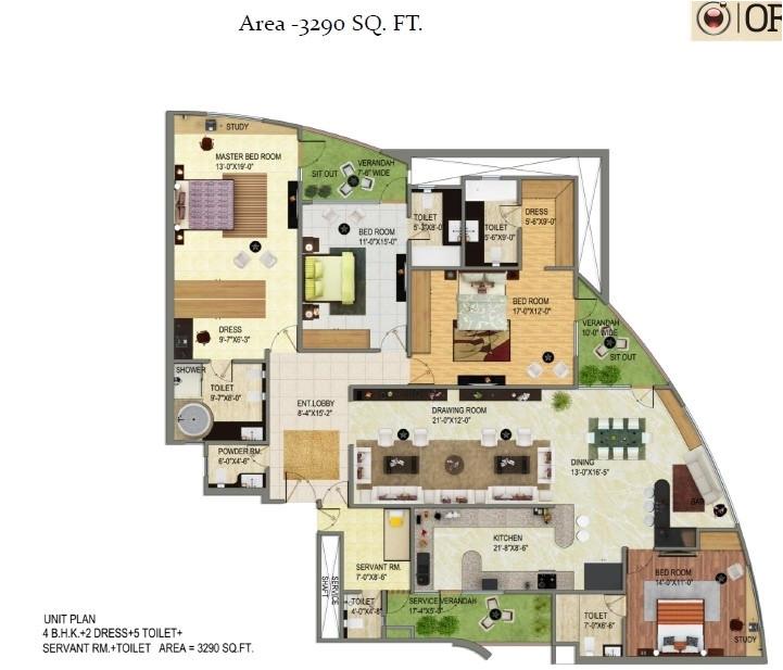ajnara homes noida extension floor plan