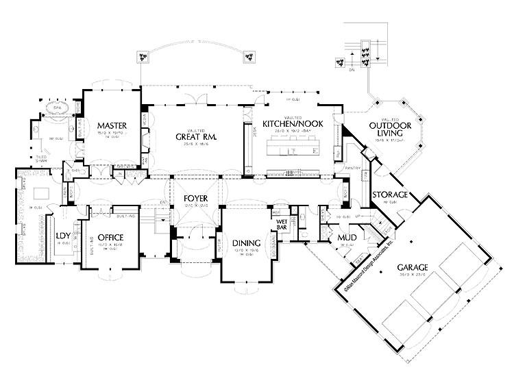 amazing house floor plan large garage luxury house plans