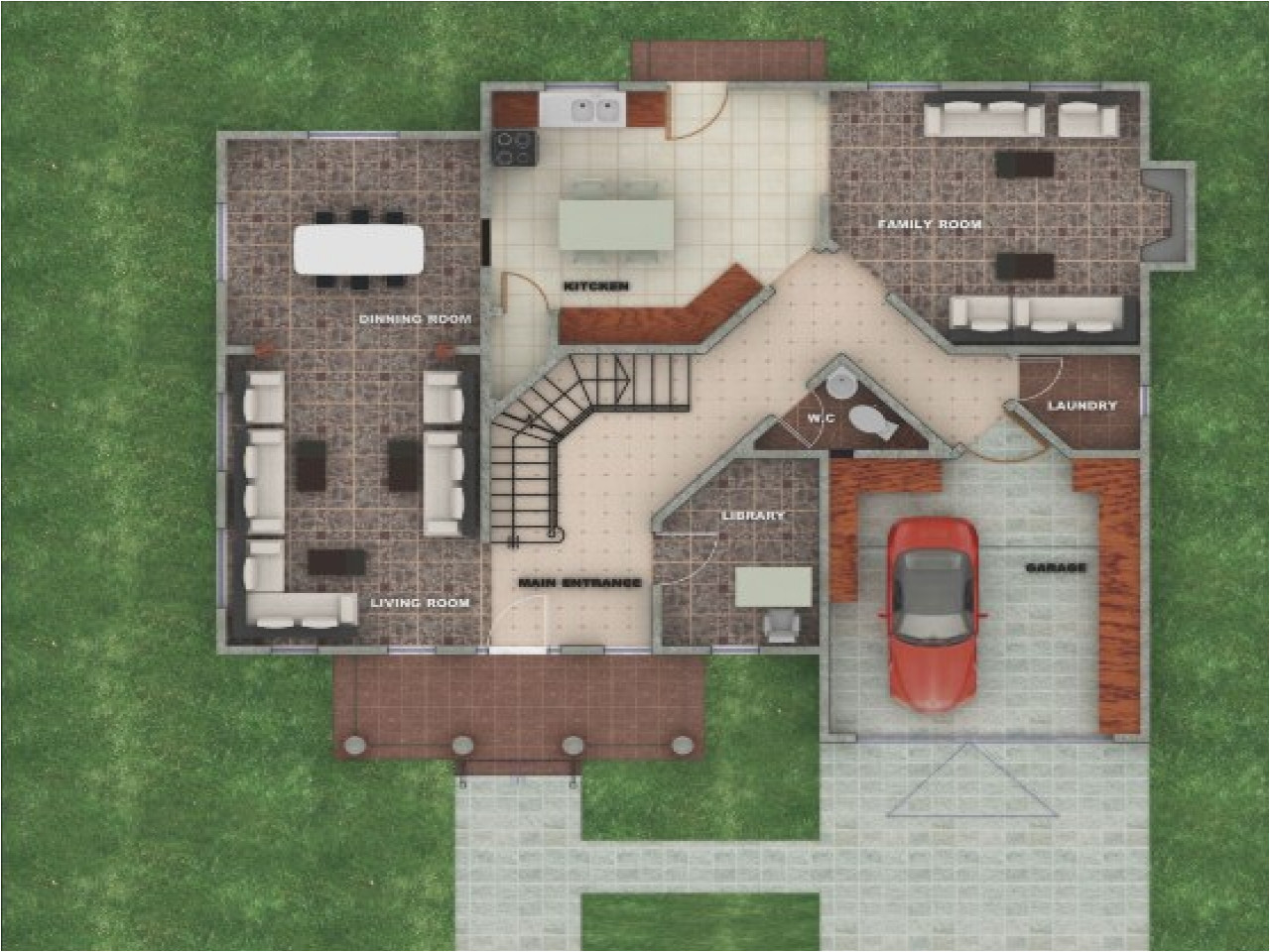 american house designs and floor plans