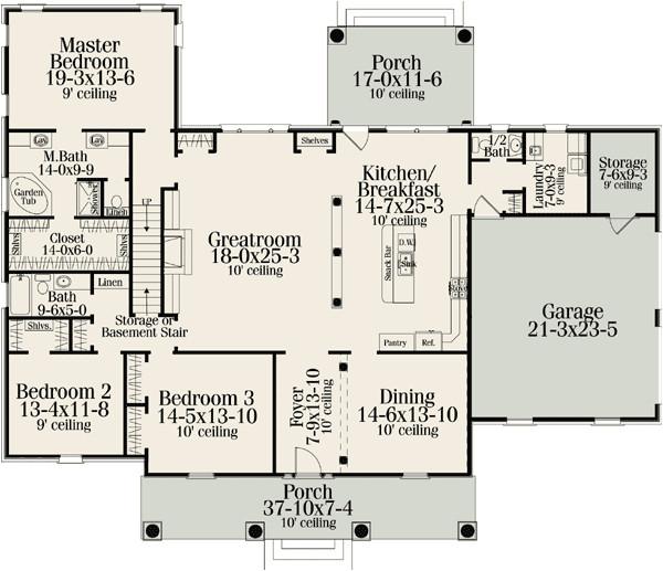 classic american home plan 62100v