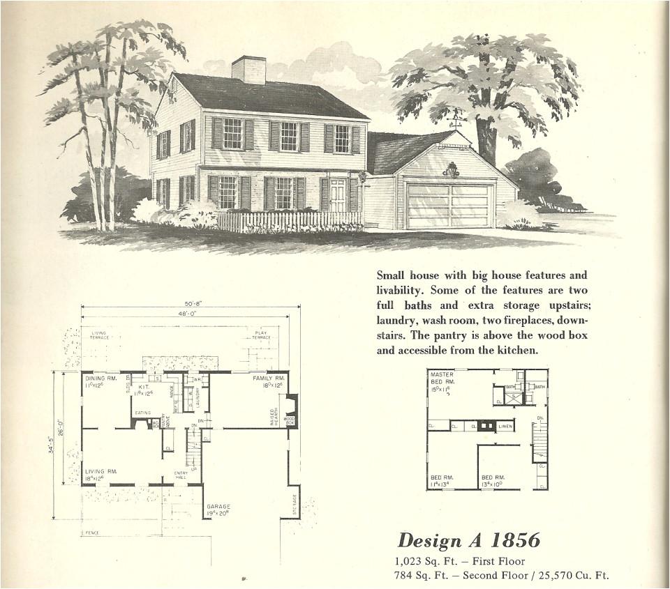 vintage house plans 1856