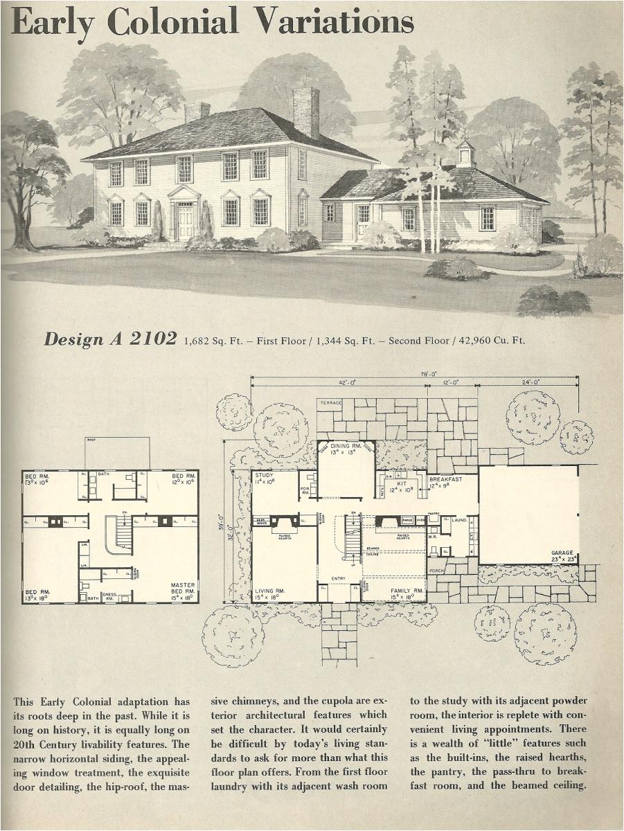 vintage house plans 2102