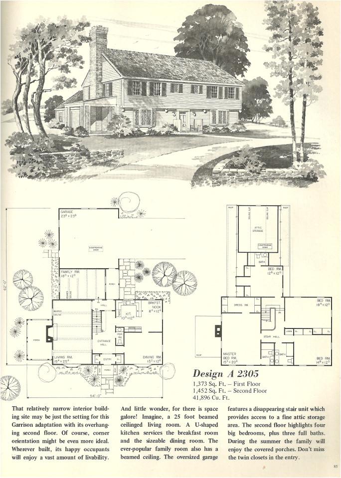 vintage house plans 2305