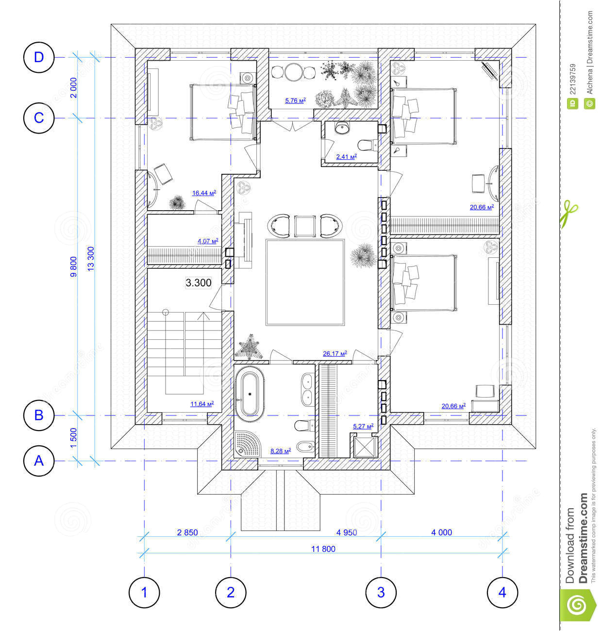 royalty free stock images architectural plan 2 floor house image22139759