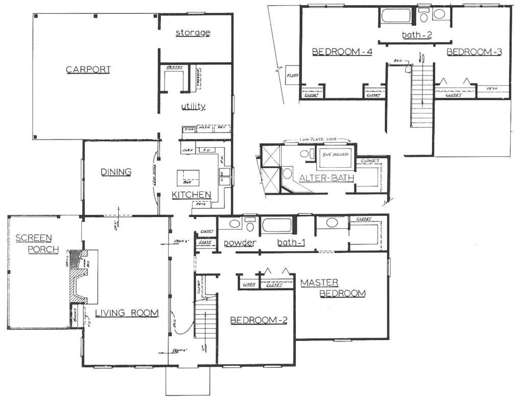 architectural floor plan 16955538