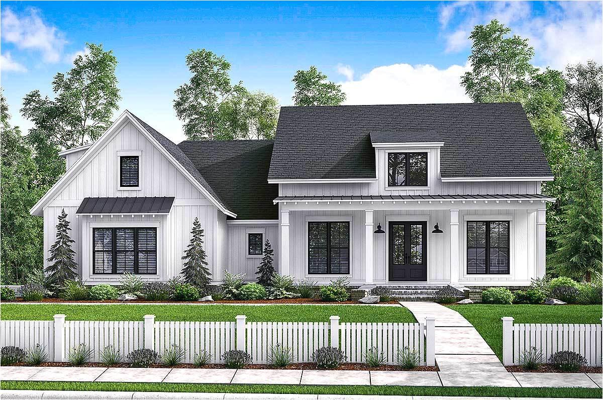 Architecture Home Plans Budget Friendly Modern Farmhouse Plan with Bonus Room