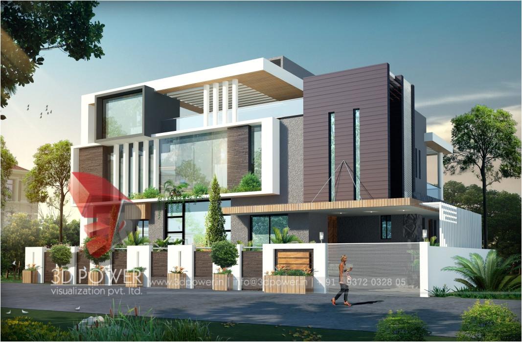 modern bungalow 3d designs