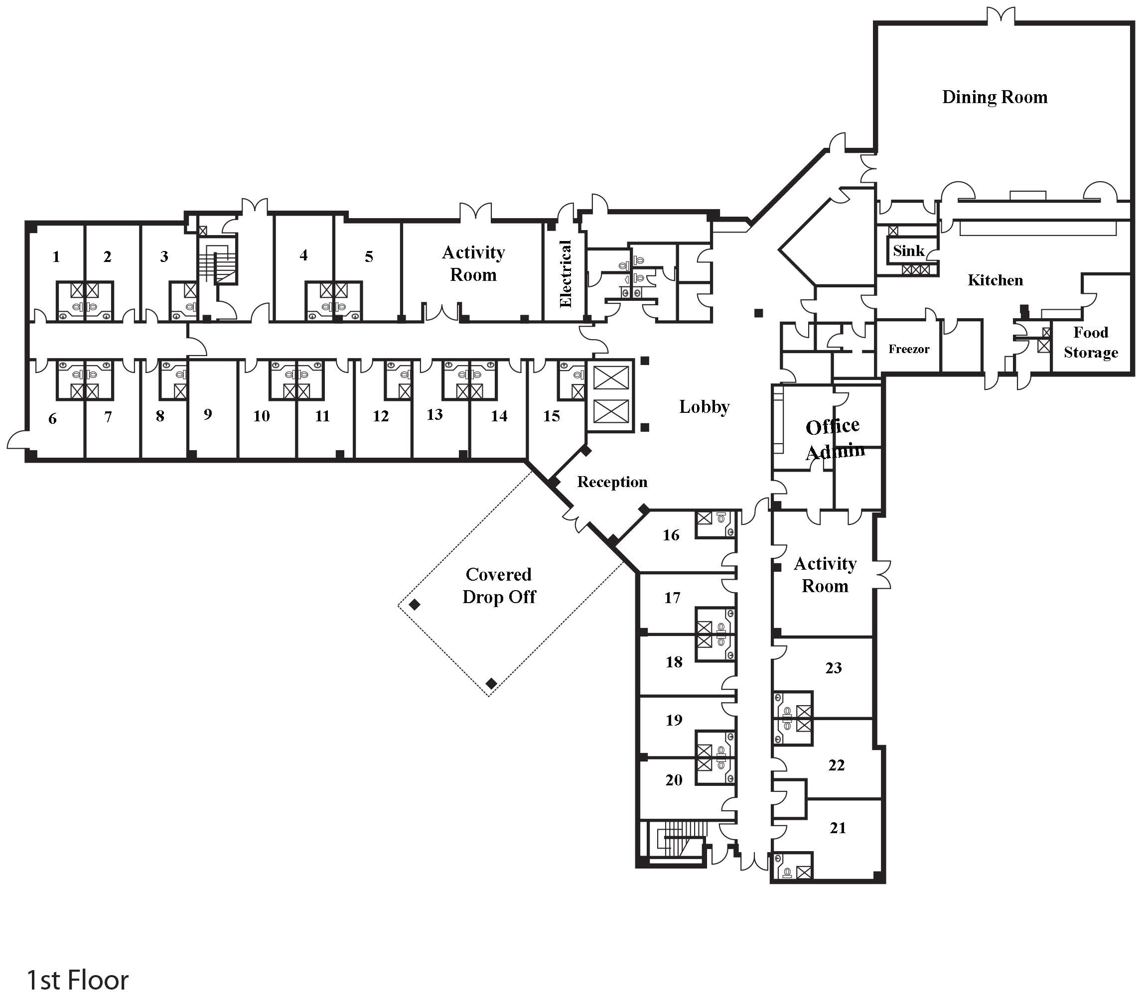 7466 modular assisted living floor plans