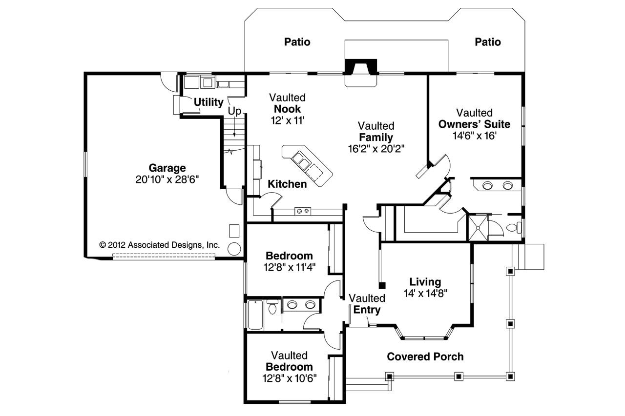 Associated Designs Home Plans Country House Plans Binghamton 10 259 associated Designs