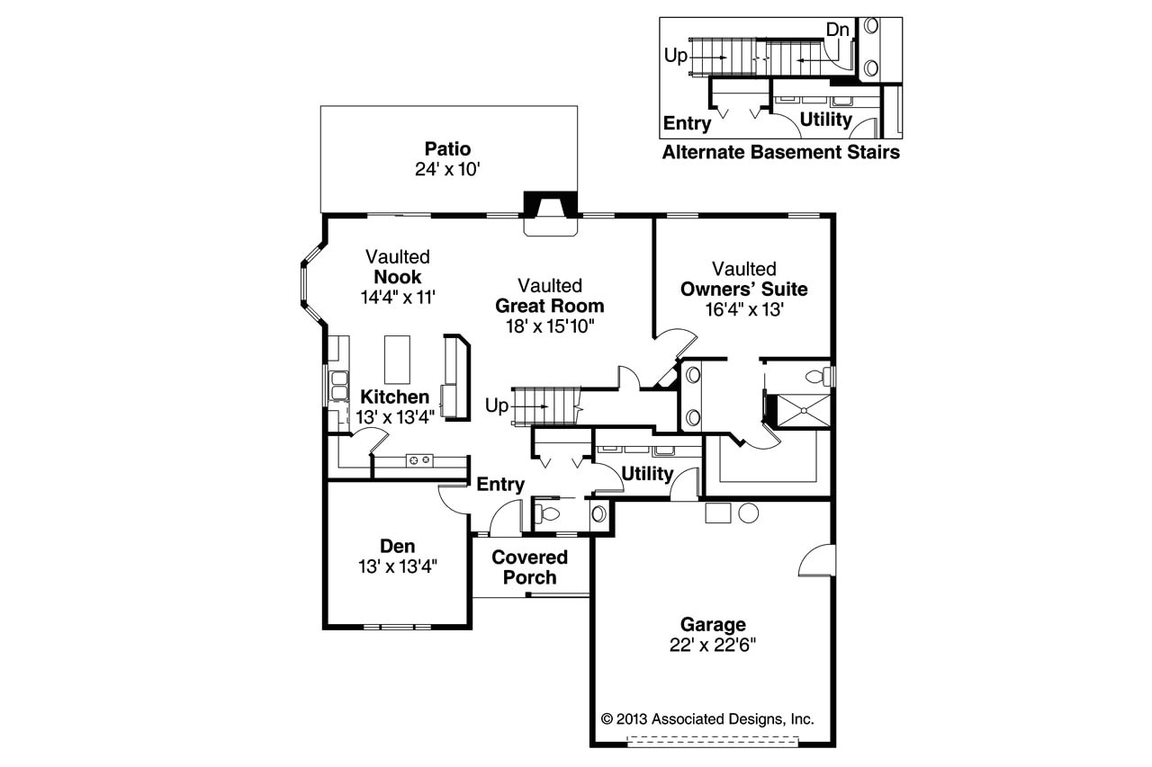 Associated Designs Home Plans Country House Plans Radbourne 30 562 associated Designs