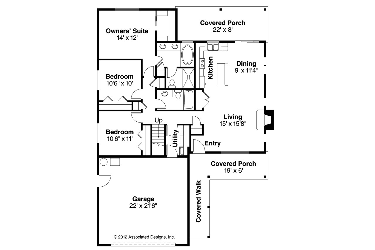 Associated Designs Home Plans Ranch House Plans andover 30 824 associated Designs