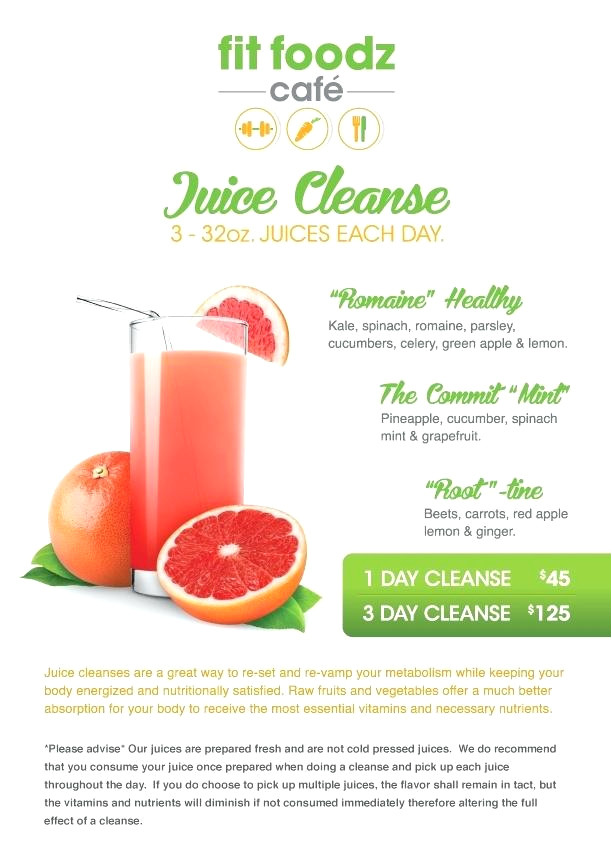 at home juice cleanse plan